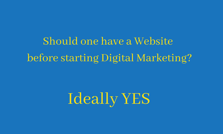 How important is website for digital marketing?